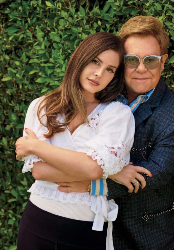 Lana Del Rey and Elton John - Rolling Stone USA November 2019 Issue