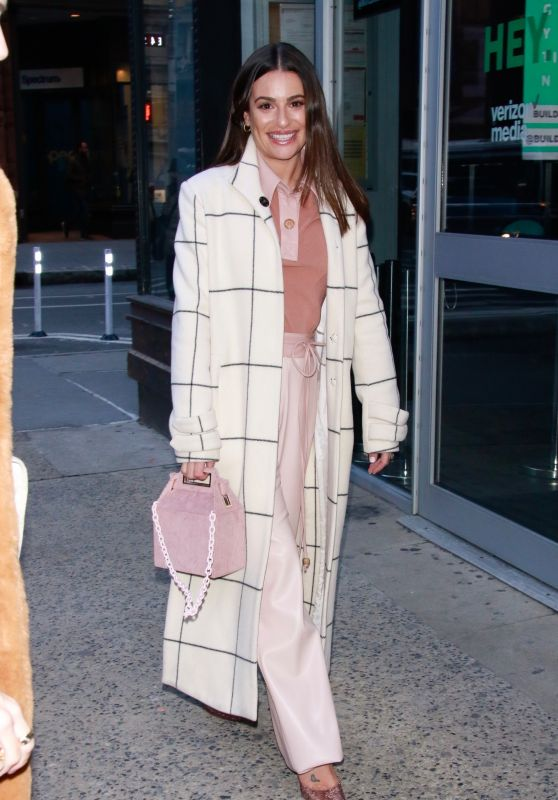 Lea Michele - Arrives at BUILD Series in New York City 12/05/2019