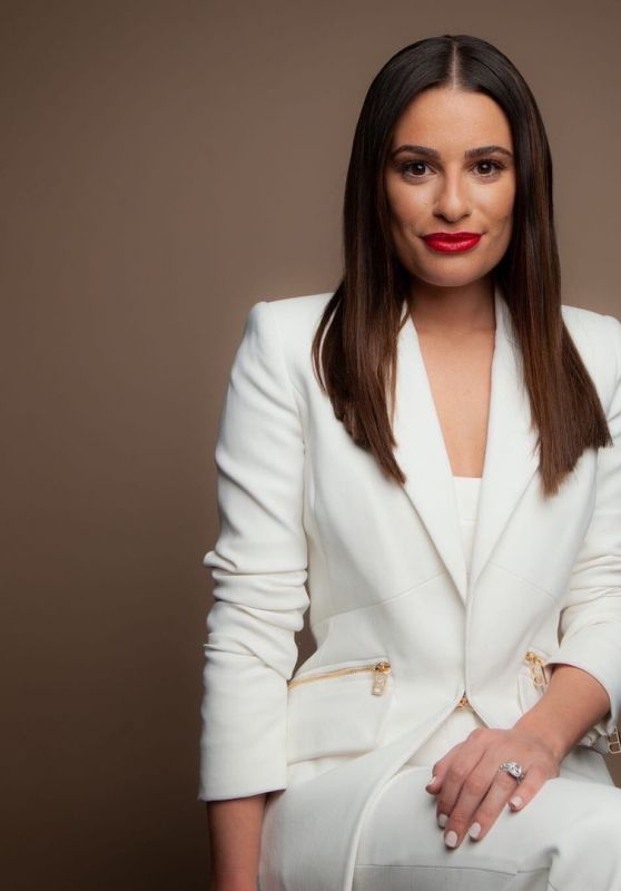 Lea Michele - BUILD Series Photoshoot December 2019