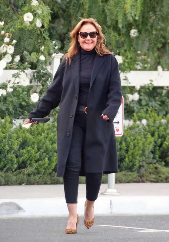 Leah Remini - Leaving a Restaurant in Hollywood 12/17/2019