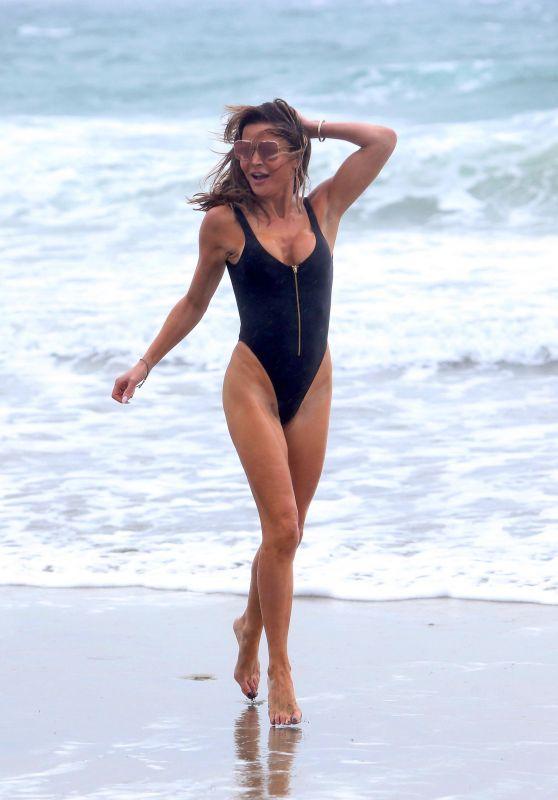 Lizzie Cundy in a Swimsuit - Beach in LA 11/27/2019