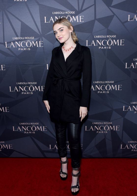 Meg Donnelly – Lancôme x Vogue L'Absolu Ruby Holiday Event in West Hollywood