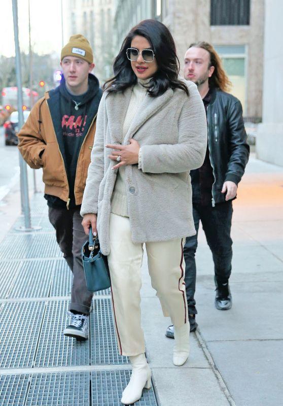 Priyanka Chopra Street Style - Tribeca, NYC 12/20/2019