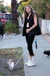 Rachel McCord - Walking Her Dogs in Los Angeles 12/04/2019