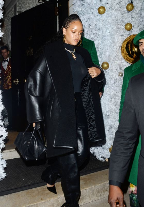 Rihanna Night Out Style - Annabels Private Members Club in London 12/08/2019