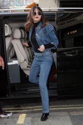 Selena Gomez - Arriving at KISS FM UK Breakfast Radio Studios in London