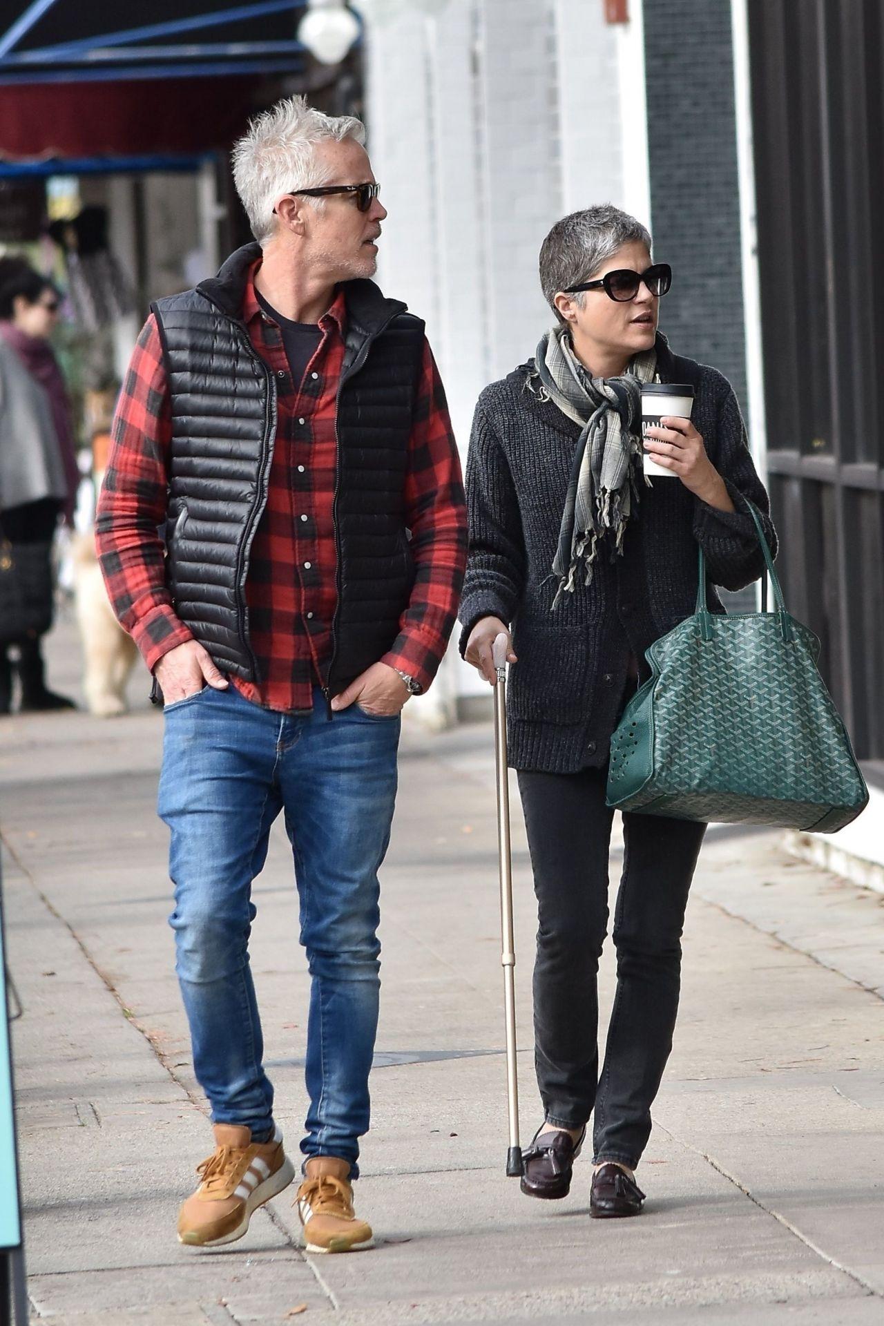 Selma Blair and Her Boyfriend at Joans in Studio City 12