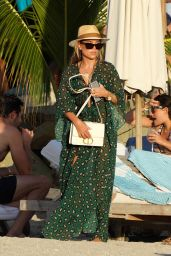 Sylvie Meis and Niclas Castello at Shellona Beach in St-Barts 12/28/2019