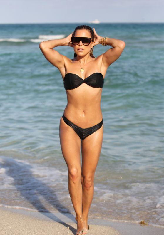 Sylvie Meis in a Black Bikini 11/30/2019