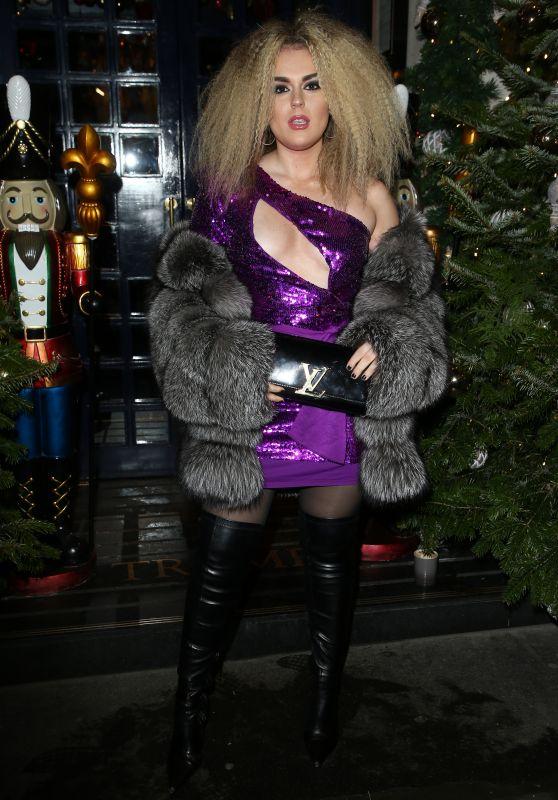 Tallia Storm - Tramp Private Members Club Xmas Party London 12/17/2019