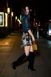 Victoria Justice - Leaving the Swarovski Naughty or Nice Holiday Celebration in NYC
