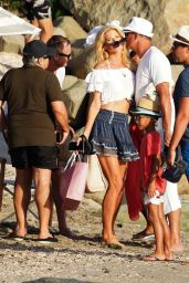 Victoria Silvstedt on the Beach in St Barts 12/24/2019