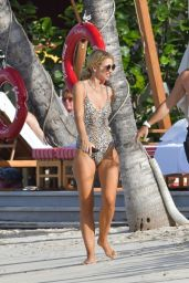 Vogue Williams and Spencer Mattews - Beach in St Barts 12/15/2019
