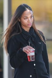 Zoe Saldana - Christmas Shopping in LA 12/20/2019