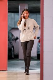 Zoe Saldana in Tights - Talks on Her Phone in Beverly Hills 12/18/2019