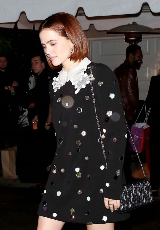 Zoey Deutch - Leaving a Party in Brentwood 12/07/2019