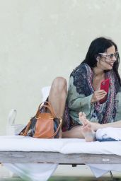 Adriana Lima in a Bikini at the Pool in Miami 01/03/2020