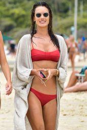 Alessandra Ambrosio in a Red Bikini 01/18/2020