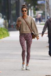 Alessandra Ambrosio in Camo Leggings - Los Angeles 01/26/2020