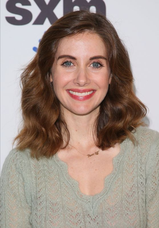 Alison Brie - Visits SiriusXM Studios in Los Angeles 01/23/2020