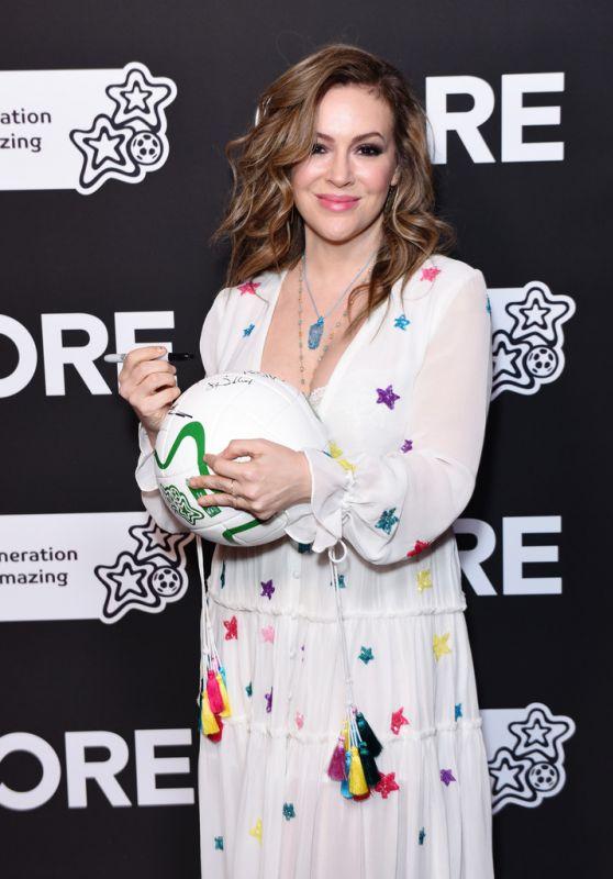 Alyssa Milano - CORE Gala in Los Angeles 01/15/2020