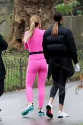 Amanda Holden and Alesha Dixon - Filming the Upcoming Series of BGT in London 01/22/2020