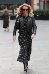 Amanda Holden in Black Polka Dot Dress 01/16/2020