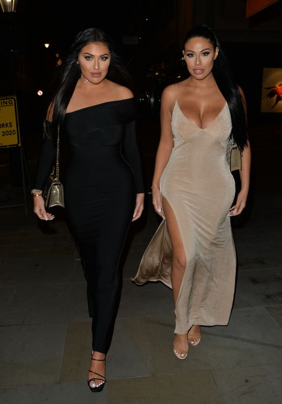 Anna Vakili and Mandi Vakili - Arriving at Tramp Night Club for a New Years Eve Party 12/31/2019