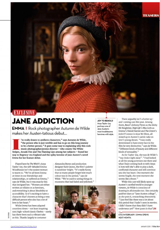 Anya Taylor-Joy - Total Film January 2020