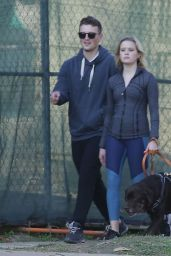 Ava Phillippe - Walking Her Dog in Brentwood 01/13/2020