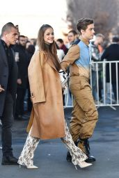 Barbara Palvin and Dylan Sprouse - Outside Prada Fashion Show in Milan 01/12/2020