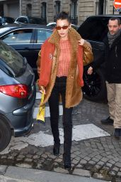Bella Hadid is Stylish - Leaves Her Hotel in Paris 01/20/2020