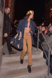 Bella Hadid – Leaving the Jean-Paul Gaultier Show in Paris 01/22/2020