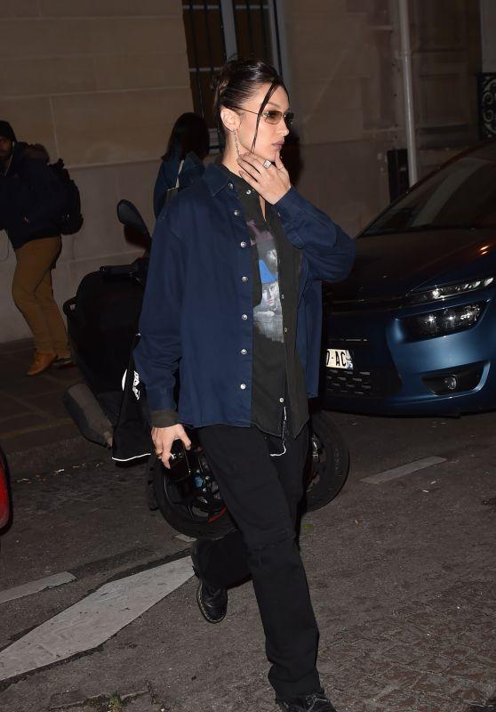 Bella Hadid - Out in Paris 01/16/2020