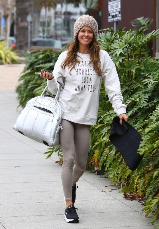 Brooke Burke - Arriving for Workout in Malibu 01/26/2020