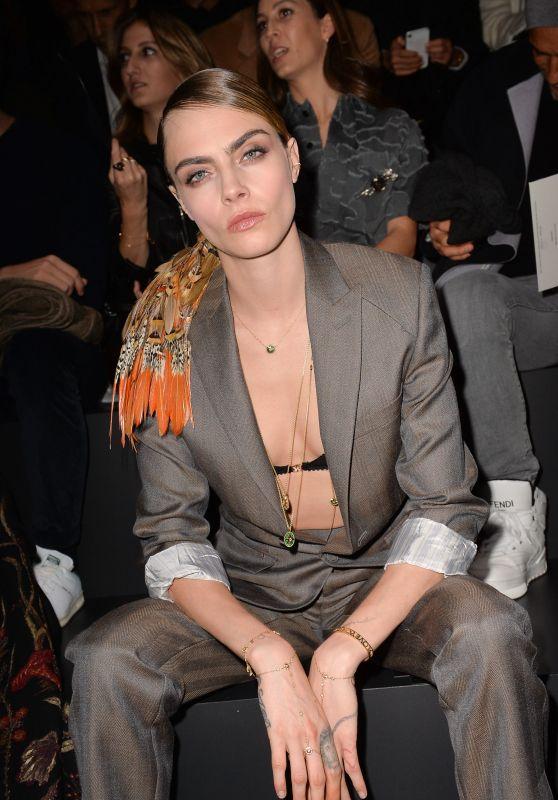 Cara Delevingne - Dior Homme Menswear Show in Paris 01/17/2020