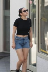 Charli XCX in Jeans Shorts - Out in Auckland 01/25/2020