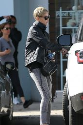 Charlize Theron in Tights - Beverly Hills 01/07/2020