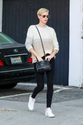Charlize Theron in Tights - Out in Los Angeles 01/13/2020