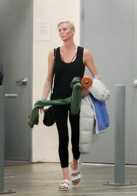 Charlize Theron - Leaves a Yoga Class in LA 01/24/2020
