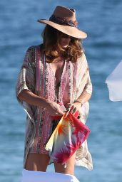 Cindy Crawford on the Beach on New Year