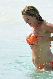 Claire Sweeney in a Bikini in Barbados 01/17/2020