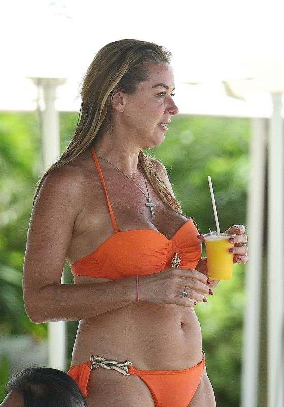 Claire Sweeney in a Bikini in Barbados 01/17/2020