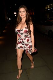 Demi Rose - Arrives at Peter Street Kitchen in Manchester 01/28/2020