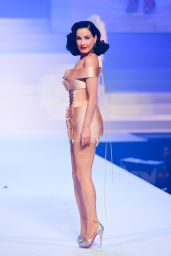 Dita Von Teese - Walks Jean-Paul Gaultier Fashion Show in Paris 01/22/2020