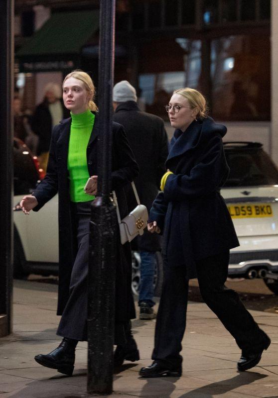 Elle Fanning and Dakota Fanning - Out in London 01/24/2020