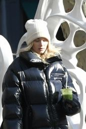 Elsa Hosk in Oversized Puffer Jacket 01/29/2020