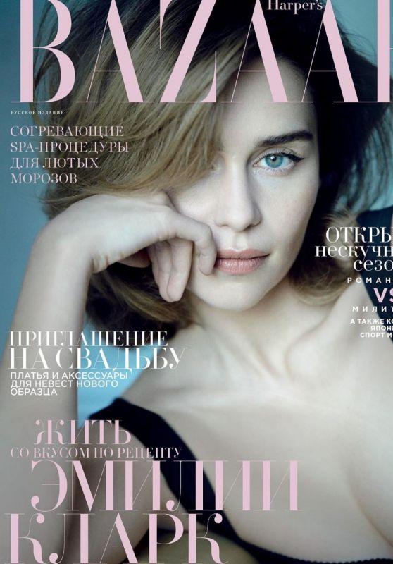 Emilia Clarke - Harper's Bazaar Magazine Russia February 2020 Cover