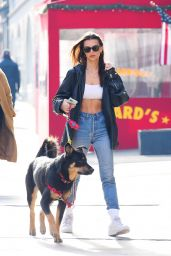 Emily Ratajkowski - Out With Colombo in NYC 01/24/2020