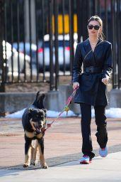 Emily Ratajkowski - Walking Her Dog Colombo in New York 01/19/2020